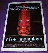 The Sender 1982 Original Movie Poster Horror Thriller