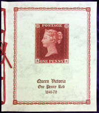 QV Penny Red album for plate reconstruction