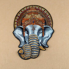 Large Embroidered Elephant Beaded Sew On Patch T-shirt Dress DIY Badge Applique