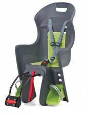 Polisport Boodie Fahrrad Kindersitz grau grün mit Rahmenhalterung