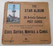 36 POSTCARDS OF ESSEX, SUFFOLK, NORFOLK, & CAMBS - THE STAR ALBUM (c.1912)