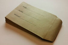 Childrens School Dinner Money Envelopes Small Brown Wages Petty Cash Kids