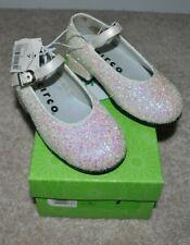 NWT Circo White Glitter Shoes LITTLE Girl's size 7