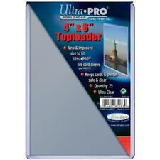 "Ultra Pro Toploader 4""x6"" Clear Card Holder 25 Pack [NEW] Case Top Loader CDG"