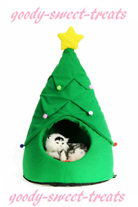 Christmas Pet House Soft Bed Dog Cat Tree Cat Home Beds novelty gift present box