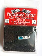 Quartz 72.550 MHz RX FM Micro Channel 38 Performance Devices pour GWS