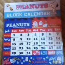 Snoopy Block Perpetual Calendar Amusement Item