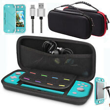 For Nintendo Switch Lite Carrying Case Bag+Cover+Charge Cable +Tempered Glass