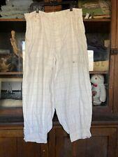 Vintage Mens 1920's Linen Pants Knickers Plaid 30's Dress Formal Cotton Antique