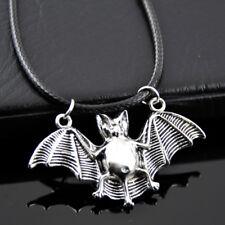 Cool Vampire Bat Silver Pendant Necklace Dracula