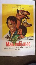 """One Little Indian 1973 Original Yugo Movie Poster 24""""X18"""" to 27 1/2""""X19 1/2"""""""