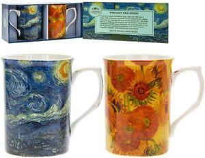 Set of 2 Mugs Vincent Van Gogh Artist from the Leonardo Collection