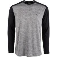Greg Norman Mens Activewear Top Gray Black Large L RapidDry Thermal Crew $45 109