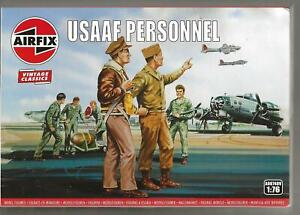 AIRFIX Vintage Classics WWII USAAF Personnel Figure Set in 1/76 A00 748 ST