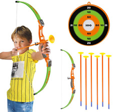 Conthfut Archery Set Kids Green Bow And Arrow Play Toy, Outdoor Hunting Game Wit