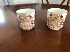 A Pair of Antique Queen Victoria 60 years Reign 1897 Little mug/cup Commemorate