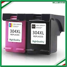 ✅ KIT 2 CARTUCCE COMPATIBILI HP 304 XL NERO+COLORE STAMPANTE DESKJET 3700 3720 ✅