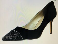 Stunning Karen Millen Black Suede and Sequin Stiletto Shoes, Size 6