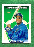 1993 Topps #723 Kenny Felder NM-MT RC Rookie Brewers   autogarphed as shown