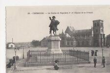 France, Cherbourg, La Statue de Napoleon 1er Postcard, B275