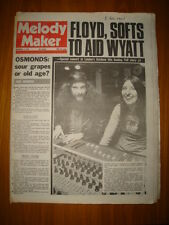 MELODY MAKER 1973 NOV 3 JETHRO TULL PINK FLOYD OSMONDS