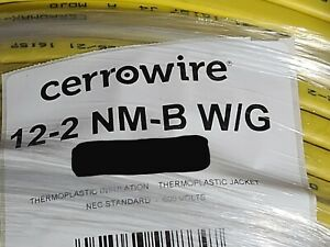Cerrowire 12/2C w/ ground CerroMax  Residential Building Wire Cable NM-B /50ft