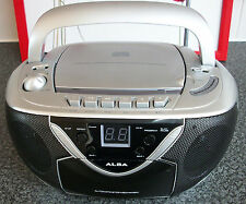 ALBA STEREO CD RADIO CASSETTE BOOMBOX Model CBBCAS2  Mains or Battery