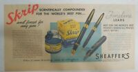 Sheaffer's Skrip Ink Ad:World's Best Ink ! from 1945 Size: 7.5 x 15 inches