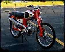 Honda C110 Super Sport Cub 61 02 A4 Imprimé Photo moto Vintage Aged