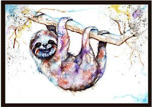 "Sloth ""Chilling Out!"" Watercolour Painting,Original Art, Prints, Art Card"