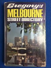 GREGORY'S7th EDITION MELBOURNE Street Directory Vintage 1972