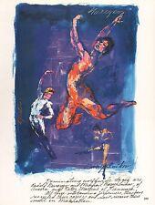"LEROY NEIMAN BOOK PLATE PRINT ""MALE BALLET STARS""  NUREYEV BARYSHKNIKOV MARTINS"