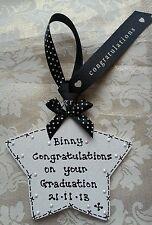 ** HANDMADE PERSONALISED 'graduation' KEEPSAKE plaque GIFT **GORGEOUS**
