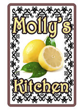 Personalized Kitchen Sign Printed with YOUR NAME.Custom High Gloss Aluminum lemn
