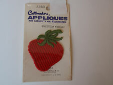 Vintage Costumakers Sew On Applique Red Strawberry Blumenthal Mip Accessories