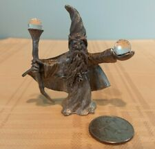 Spoontiques Mythical Pewter Wizard With Staff and Crystal Ball Cmr591,