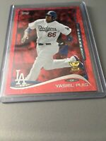 YASIEL PUIG 2014 Topps RED Sparkle FOIL Rookie Cup #331 Dodgers/Reds RARE MINT