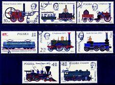 POLAND - 1976 'HISTORY OF RAILWAY LOCOMOTIVES' Set of 8 CTO SG2414-21 [B0791]