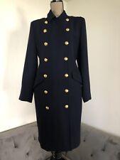 USA! Lauren Ralph Lauren Navy Military Dress Double breast Gold Buttons sz L