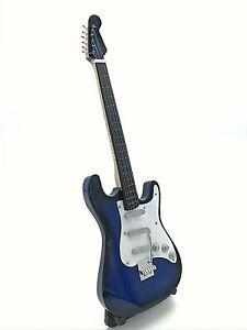 Miniature Fender Standard  Stratocaster Guitar - Blue (ornamental)