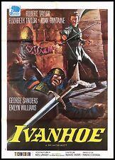 IVANHOE MANIFESTO CINEMA FILM USA JOAN FONTAINE ELIZABETH TAYLOR MOVIE POSTER 2F