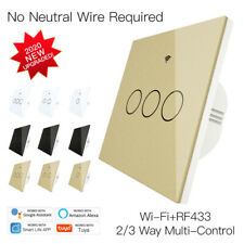 WiFi Smart Light Wall Switch Touch Remote Control Light Work With Alexa Google