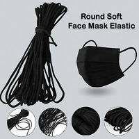 2.5mm Face Mask Elastic for Sewing QUALITY UK STOCK Stretch Band Cord Black