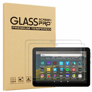 2PC Amazon Fire HD 8/8 Plus 10th Gen 2020 Tablet Screen Protector Tempered Glass