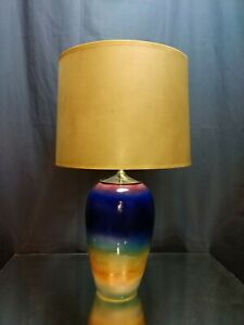 ISLAND SUNSET! Judith Stiles Handmade Ceramic Table Lamp Beach Cottage SIGNED