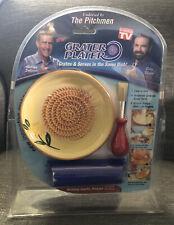 Ceramic Grater Plater & Bonus Garlic Peeler As Seen on TV Kitchen The Pitchmen