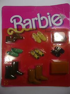 Vintage Ken Shoes Boots Belt Tie 1984 Finishing Touches 2459 Mattel Barbie Doll