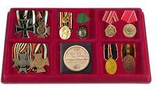 2x Leuchtturm 348092 Münztableaus 6x 95x95x17mm Für Orden Militaria Abzeichen