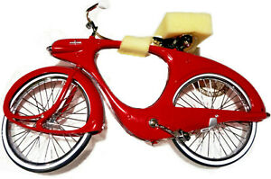 Xonex Red BOWDEN SPACELANDER BICYCLE 1/6th DIECAST MODEL Kit Space Age MCM box