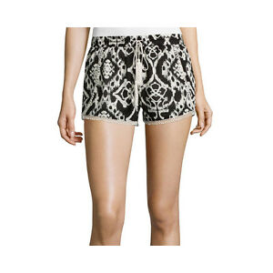 Vanilla Star Crinkle Gauze Print Shorts Juniors Size M, XL New Msrp $36.00
